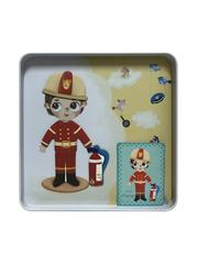 Развивающие магнитные карточки в жестяной коробке IDEAL OCCUPATION набор ПРОФЕССИИ - 51 элемент