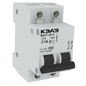Автоматический выключатель модульный ВА47-29-2С63