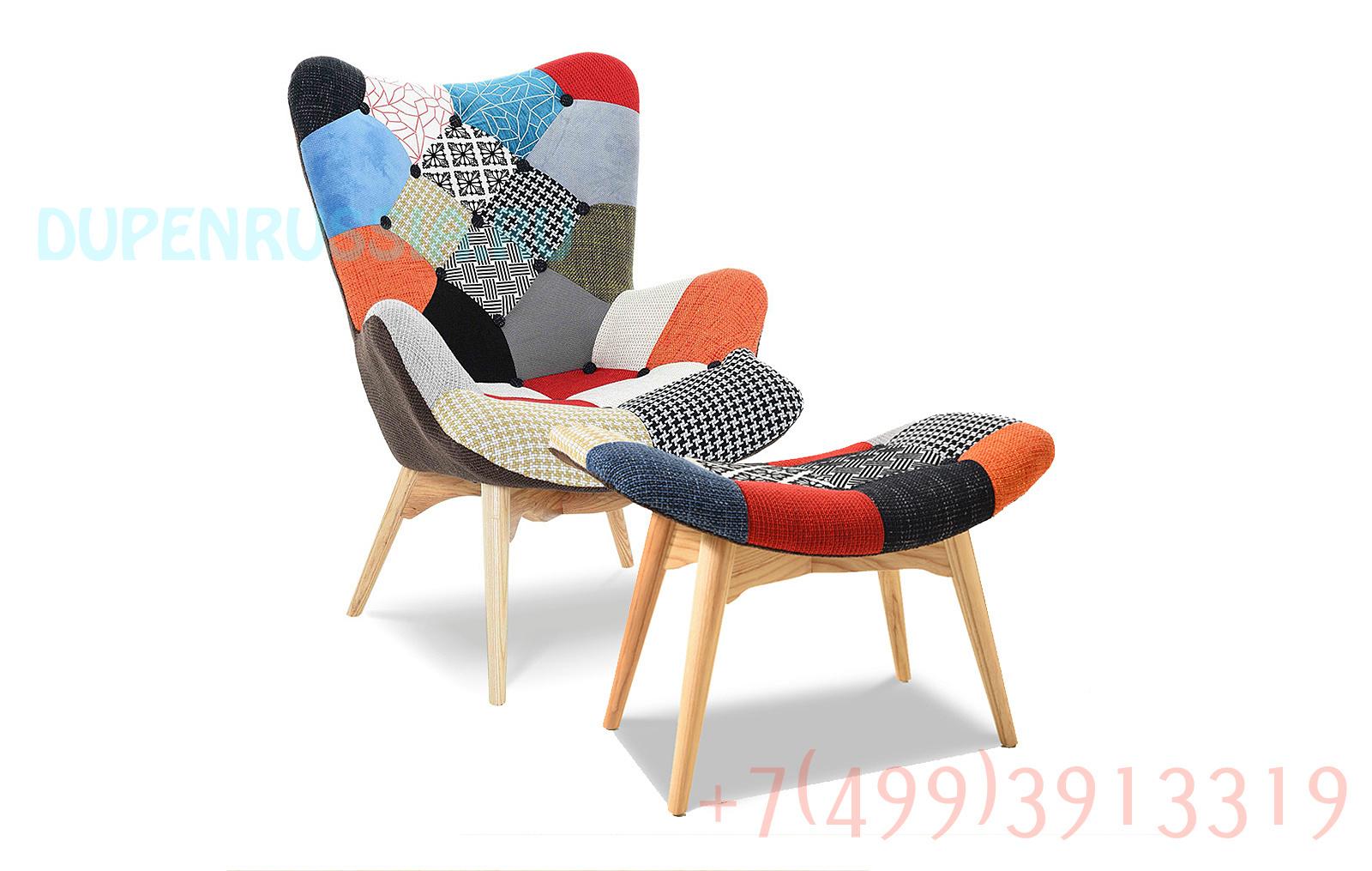 Кресло DС-917(P) patchwork + банкетка DС-917F(P) patchwork