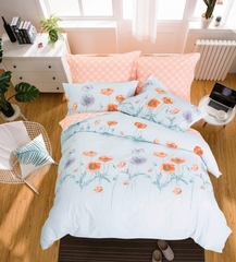 Сатиновое постельное бельё  1,5 спальное Сайлид  В-194
