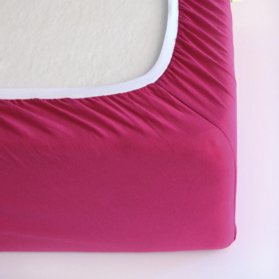 TUTTI FRUTTI малина - Двуспальная простыня на резинке