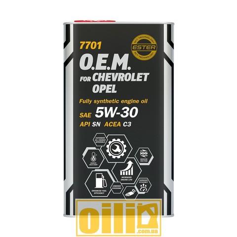 Mannol 7701 O.E.M. for CHEVROLET OPEL 5W-30 4л
