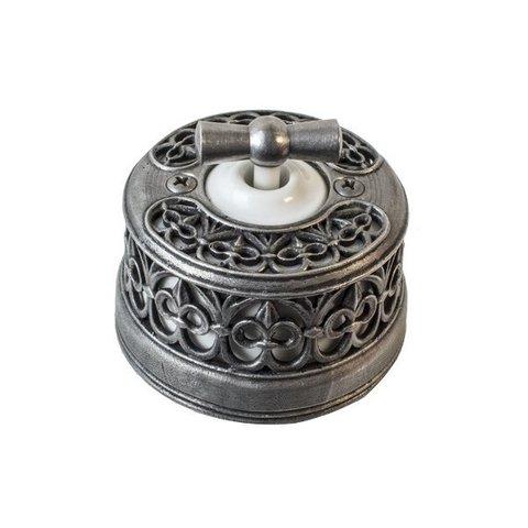 Выключатель двухклавишный с декоративной накладкой