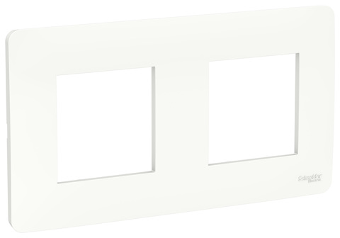 Рамка на 2 поста. Цвет Белый. Schneider Electric Unica Studio. NU200418