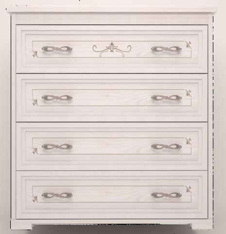 Комод Афродита с 4 ящиками Арника белый