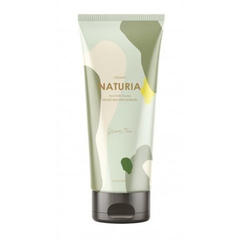Солевой скраб Evas Naturia для глубокого очищения и выравнивания кожи тела с ароматом зелёного чая 2