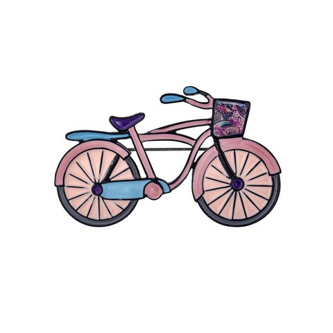 Брошь Велосипед XZ0344.9 V/BW