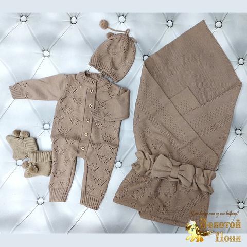 Комплект новорожденному 5 предм ЛЕТО (0-6) 210604-NV11106
