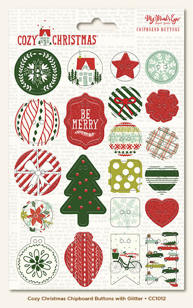 Чпборд пуговицы Cozy Christmas