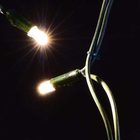 LED Теплый цвет гирлянды бахрома 5 на 0,7 метров