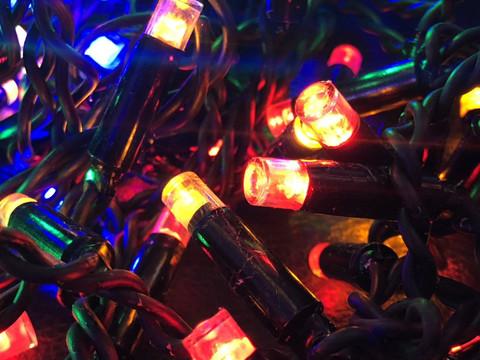 Штора-гірлянда Вулична 120 LED BX 3 на 1 м. тепло-біла