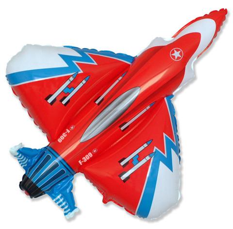 Воздушный шар фигура Самолет Истребитель, 99 см