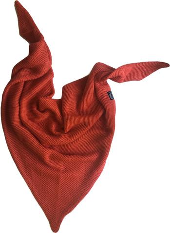 Косынка осенняя коралловая (вязаный платок)