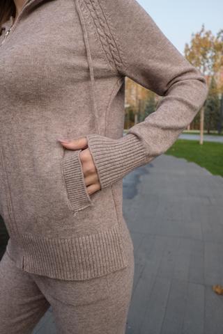 Спортивный костюм женский оверсайз бежевый недорого