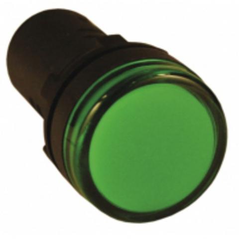 Лампа AD-22DS(LED)матрица d22мм зеленый 24В AC/DC TDM