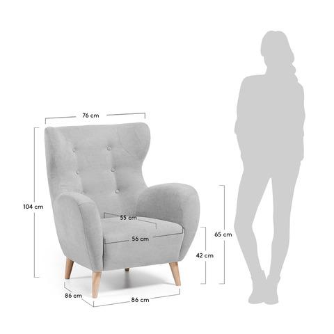 Кресло Passo серое