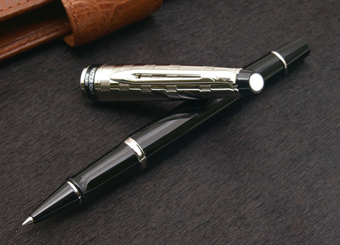 Ручка-роллер Waterman Expert DeLuxe, цвет: Black, стержень: Fblack123
