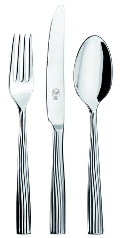 Набор столовых приборов  на 6 персон, 24 предмета, нержавеющая сталь , серебристый, артикул 1110500D05, серия Sedora