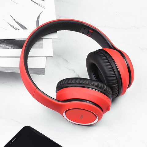 Наушники Bluetooth HOCO W28 Journey Hi-Res, red