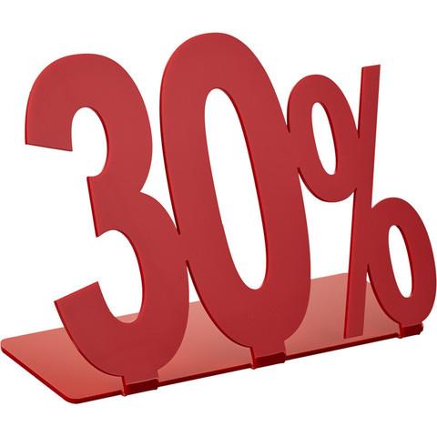 Подставка Attache 30% акриловая красная 205x175 мм