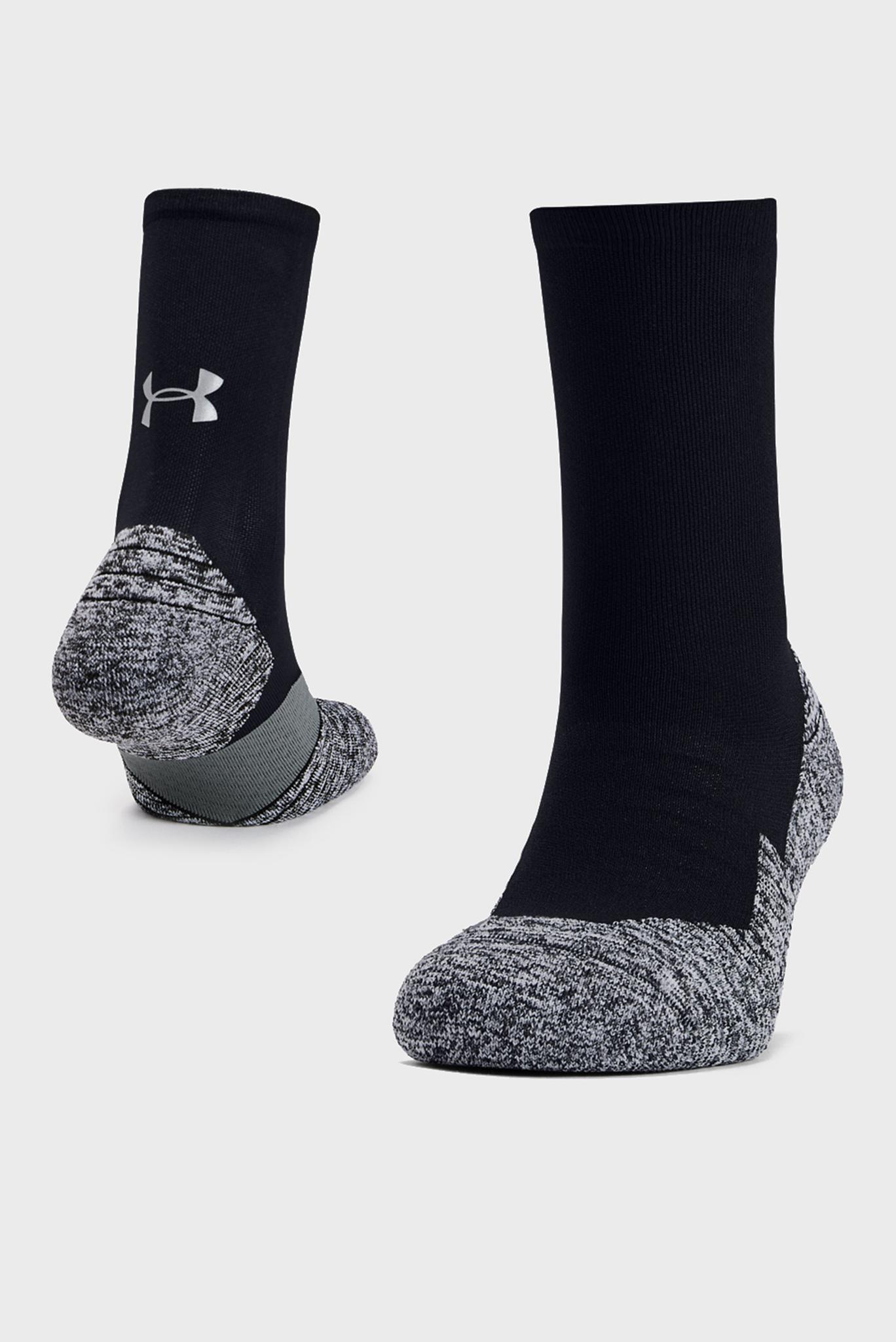 Черные спортивные носки UA Run Cushion Crew Under Armour