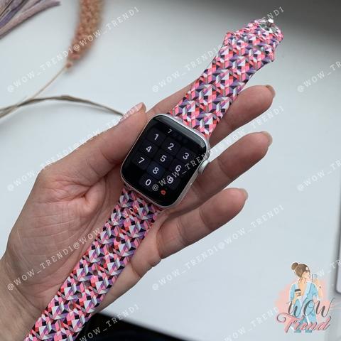 Ремешок Apple watch 38mm Sport Band picture /splinters purple/ S
