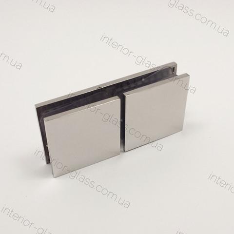 Соединитель (держатель) стекло-стекло 180 град. HDL-724 CP полированный хром
