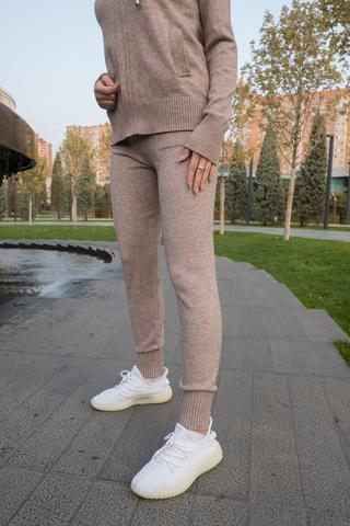 Спортивный костюм женский оверсайз бежевый оптом