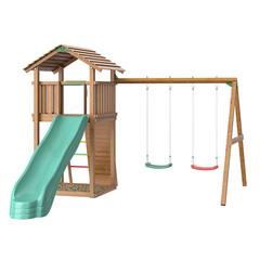 Детская площадка Jungle Cottage + Swing Module Xtra + Rock