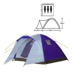 Палатка туристическая 3-х местная LANYU LY-1637 Размер 220+90 x 220 x 155 см