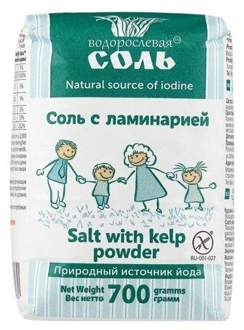 Гарнец, Водорослевая соль смесь с ламинарией, 700гр