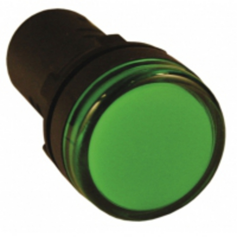 Лампа AD-22DS(LED)матрица d22мм зеленый 36В AC/DC TDM