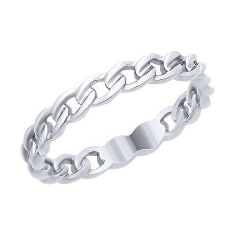 94012508 - Кольцо из серебра в виде звеньев