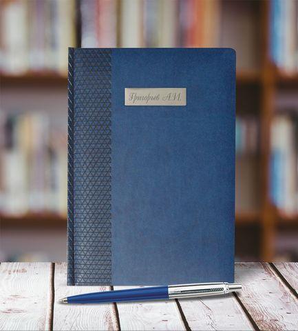 Набор с гравировкой: Ежедневник недатированный и Шариковая ручка Parker Jotter K160, цвет: Blue