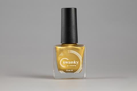 Лак для стемпинга Swanky Stamping Metallic 07, холодное золото, 10 мл.