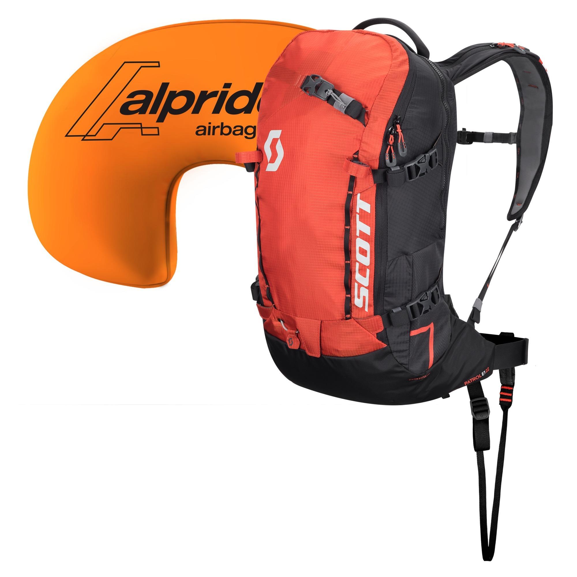 Лавинный рюкзак Patrol E1 22 Kit burnt orange/black