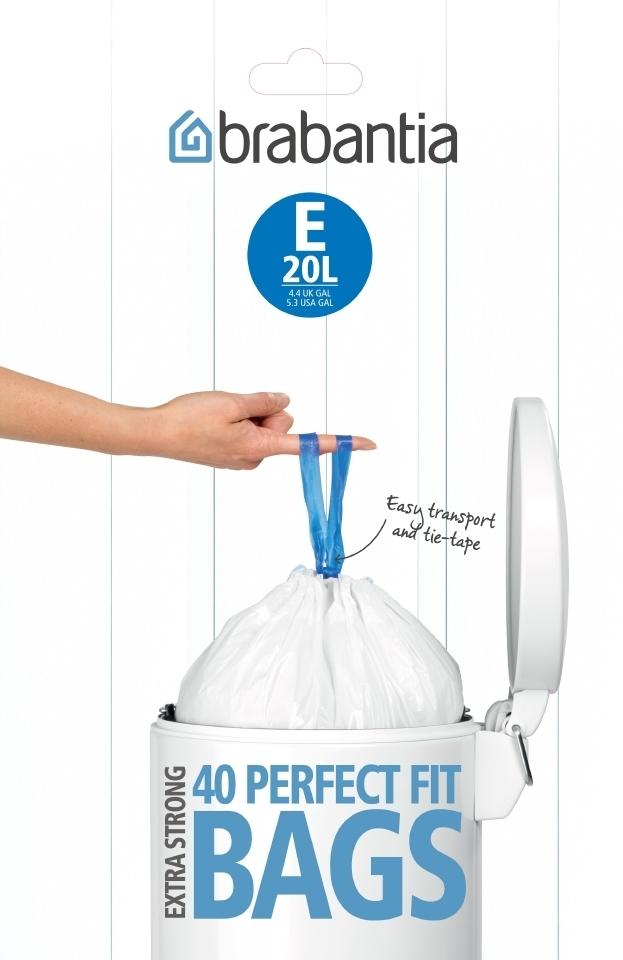 Мешки для мусора PerfectFit, размер E (20 л), упаковка-диспенсер, 40 шт., арт. 362002 - фото 1