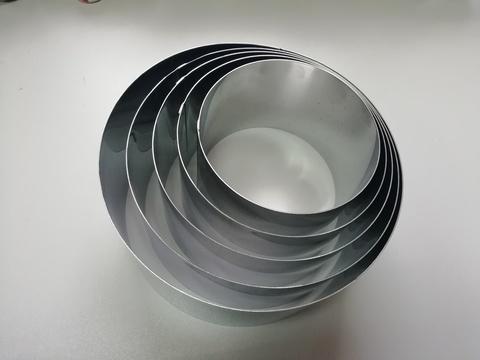 Комплект колец-резаков 5шт, H10 D= 14/16/18/20/22 см, нерж. сталь 1 мм.