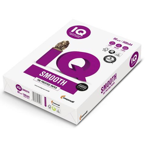 Бумага для офисной техники IQ Smooth (А4, марка A+, 80 г/кв.м, 500 листов)