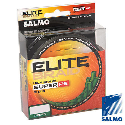Плетеный шнур SALMO Elite braid 125m – 0,40, зеленый цвет