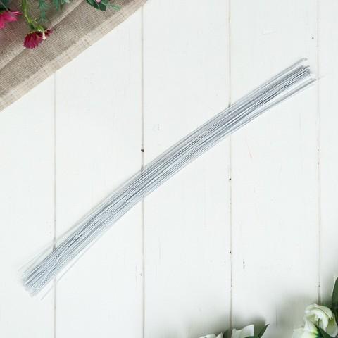Флористическая проволока,Белая, (набор 20 шт) 0,3 мм