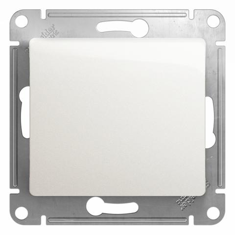 Кнопочный выключатель, 10АХ. Цвет Перламутр. Schneider Electric Glossa. GSL000615