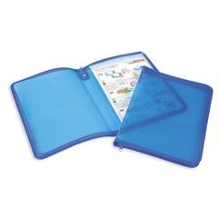Папка-конверт Attache на молнии А4 синяя 0.5 мм