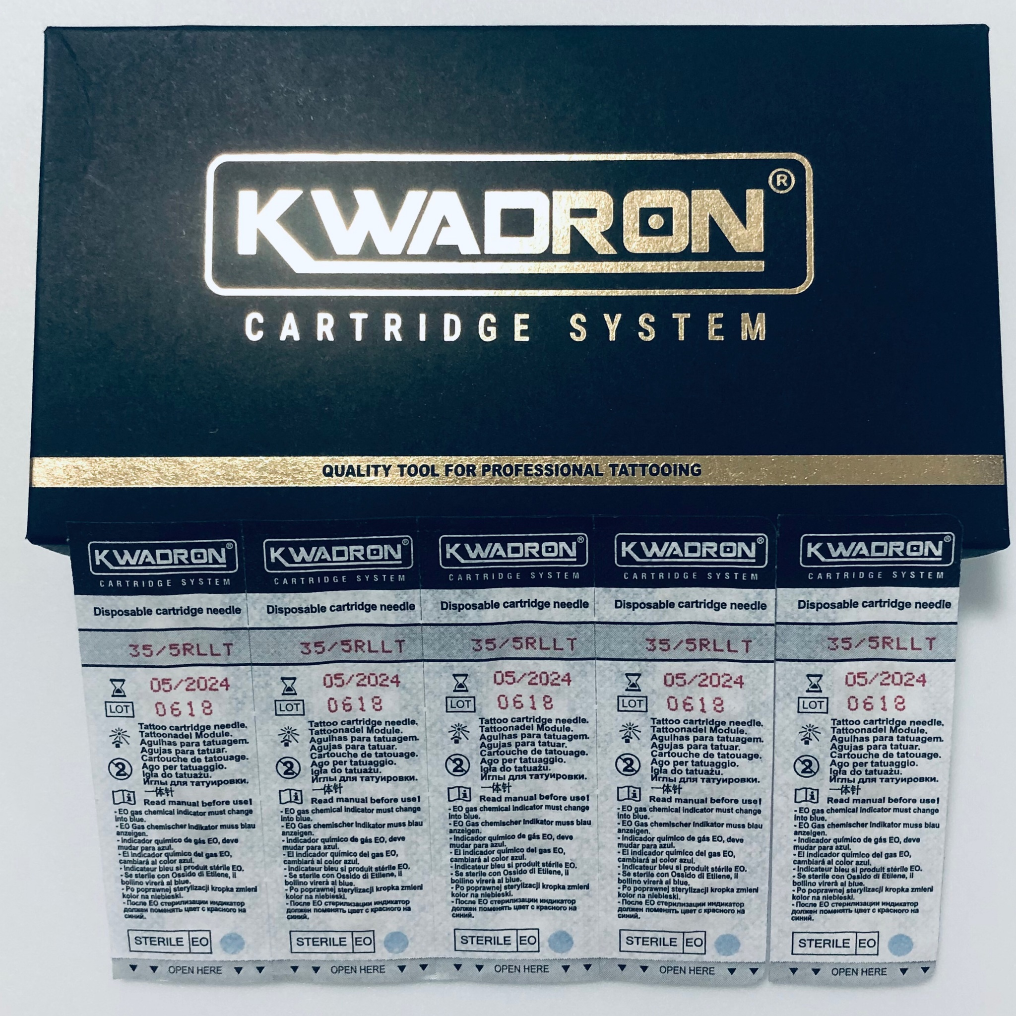 """KWADRON Round Liner 35/5RLLT -20 шт упаковка. Модули для татуажа"
