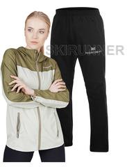 Беговой ветро и водозащитный костюм Nordski Rain Motion Light Green-Olive женский