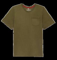 Футболка Alpha Industries Small Logo Pocket Tee Olive (Оливковая)