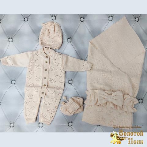 Комплект новорожденному 5 предм ЛЕТО (0-6) 210604-NV11110