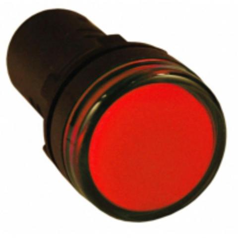 Лампа AD-22DS(LED)матрица d22мм красный 230В TDM