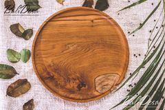 Тарелка из тика круглая (25 см)