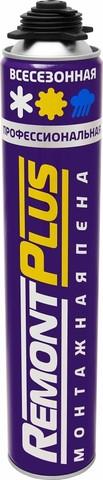 Пена пистолетная Remont Plus всесезонная 750мл/720г